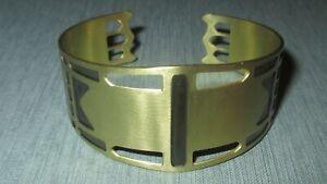 Betsy & Iya St Johns Bridge Brass Cuff Bracelet