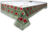 Indian Hand Block Print Tablecloth Kitchen Linen 100%Cotton Floral 150*220 cm