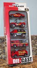 Fire & Emergency Vehicles Diecast Model Cars Jeep & Trucks Jin De Le 5-Pack Red