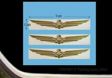 6 Inch Wing Decal For Honda Goldwing Motorcycle Riders 3 decals GWW-6