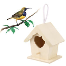 Wood Fitx Bird Nest House Bird Wooden Box Gorgeous Garden Home Outdoor Accessory