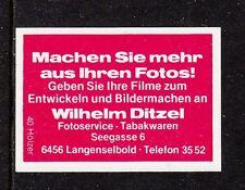402007/legno di accensione etichetta-foto Service Wilhelm Ditzel - 6456 Langenselbold