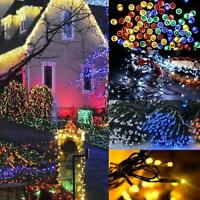 12M 100Led Solar Power Fairy Light String Lamp Party Xmas Deco Garden Outdoor US