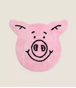 BNWT! M&S/Marks And/& Spencer Pink Percy Pig Pure Cotton Bath&Toilet Mat/Rug!