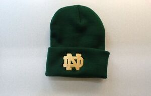Notre Dame Fighting Irish NCAA Embroidered Knit Beanie Hat New