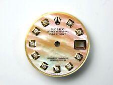 Ladie's Rolex Datejust 2Tone MariGold MOP Custom Diamond Dial