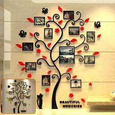 Árbol de Familia Adhesivo Pared Grande Bricolaje Foto Marco Extraíble Decoración