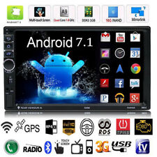 "Quad Core Android 7.1 3G WIFI de 7"" Doble 2DIN Car Radio estéreo MP5 GPS Player"