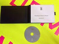 2011 2012 ROLLS ROYCE GHOST OWNERS MANUAL PACKAGE W/ INTEGRATED CD MANUAL ((OEM)