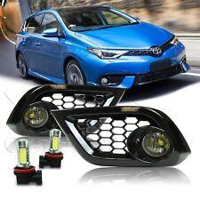 For 16 17 18 Scion Toyota IM Fog Lights w/Wiring Kit & COB LED Bulbs - Clear