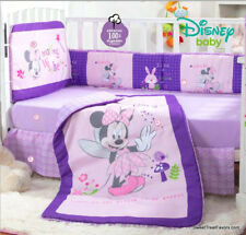 Minnie Mouse Baby Girl Crib Bedding Set Comforter Baby Shower Gift ~5Pcs~ Pink