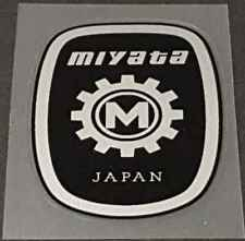 Miyata Head Badge Decal - 58mm high - Black/Silver (sku Miya703)