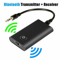 NEW 2-in-1 Bluetooth 5.0 Transmitter  Receiver Wireless 3.5mm Car Home Adapte