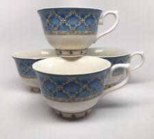 "CHURCHILL Ports of Call Jeff Banks ""PRAGUE"" 4 Tea Coffee Cups Staffordshire Engl"