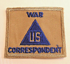 WWII US WAR CORRESPONDENT NON-COMBATANT ON TAN TWILL