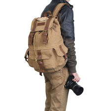 Koolertron Vintage DSLR SLR Canvas Backpack Large Camera Bag For Canon Nikon