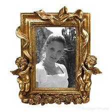 Rokoko Bilderrahmen Fotorahmen Engel 10x15 Stil Antik Rahmen Farbe Gold Barock