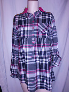 NEW GIRL'S HOODED, PLAID & CHECK FLANNEL SHIRT!  VARIOUS COLORS & SIZES