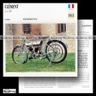 #029.09 CLEMENT 2 ¾ HP 1913 MAG 350 Fiche Moto Classic Bike Motorcycle Card