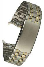 Cinturino in Acciaio Inox Bicolore Faltschließe 18 mm dritto incentiverà Uhrband