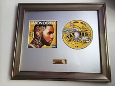 SIGNED/AUTOGRAPHED JASON DERULO - TATTOOS CD  FRAMED PRESENTATION. RARE