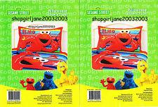 2 x Elmo Sesame Street - Stars & Stripes - Polyester/Cotton pillowcases