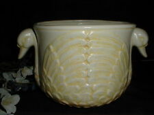 Yellow Italian Pottery DOUBLE SWAN HEAD Jardiniere Planter Flower Pot