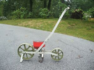 Vintage Sears Roebuck & Co.  2 Wheel Seed Planter Use or Farmhouse Decor