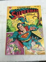 Vintage 1980 Superman Coloring Book , Clean 30 Unused Pages ,DC COMICS INC