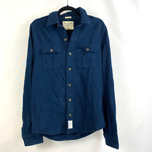 Abercrombie & Fitch Blue Denim Utility Shirt
