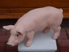 Steinfigur Tierfigur Schwein groß rosa