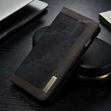 Apple iPhone 7 PLUS Jeans Case Tasche Schutzhülle Schwarz Leder Synthetisch Neu