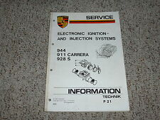 1985 Porsche 911 Carrera Electronic Ignition Injection Service Repair Manual