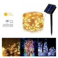 LED Solar String Lights Waterproof 5/10/20/50M Copper Wire Fairy Outdoor Garden