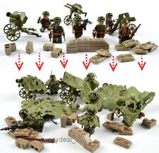 AMAZING 6pcs SOLDIERs with many weapons building blocks - Compatible with Lego