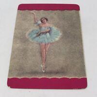 Vintage Ballerina Dancing Lady Swap Trade playing Card ephemra paper