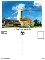 2001 NORFOLK POSTCARD FAIR UNUSED ADVERTISING UNUSED COLOUR POSTCARD