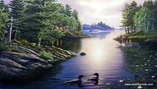 """James Meger """"At The Lake"""" Loon Art Print Signed and Numbered 27""""x 15.5"""""""