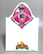 1994 Mighty Morphin POWER RANGERS Pink Ranger Stationery Paper Notepad