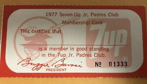 1977 San Diego Padres Ticket Pass Lou Brock SB 897 Tops Ty Cobb Record Cardinals