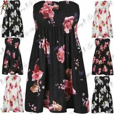 Unbranded Floral Dresses for Women with Strapless/Bandeau
