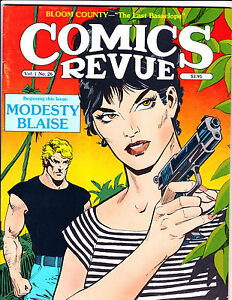 "Comics Revue Vol 1 No 26-1988-Strip Reprints- ""Modesty Blaise Cover!  """