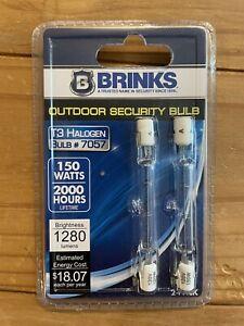 Brinks Outdoor Security T3 Halogen Bulbs #7057 2 Pack 150w 2000 Hours