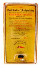 100th ANNIVERSARY EDITION TITANIC COAL CERTIFICATE