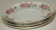 3 Bohemia Ceramic Work Floradora Saucers Only (Flat Cup