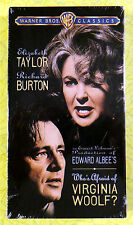 Who's Afraid of Virginia Woolf ~ New VHS Video ~ Elizabeth Taylor Movie
