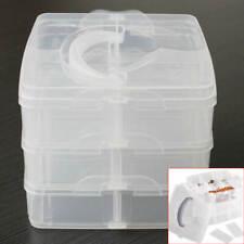 Kunststoff Aufbewahrungsbox Sortierbox 3 Etage 18 Fächer Schmuckbox Multibox