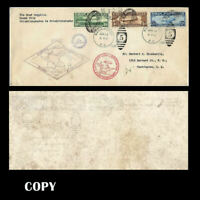 USA 1930 GRAF ZEPPELIN  PAN AMERICAN FLIGHT COVER  THREE VALUES  COPY