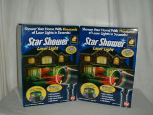 2 Bulbhead Star Shower Laser Light Projector Red&Green or Green
