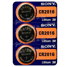 3 SONY CR2016 DL2016 CMOS Lithium 3V Watch Battery Exp 2024 Ships FREE from USA!